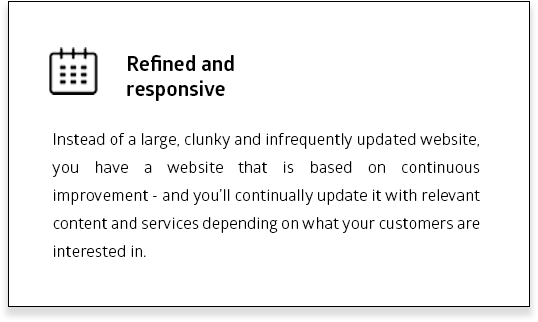 Refined and responsive